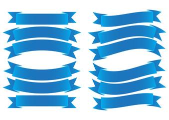 Ribbon Banner Blue