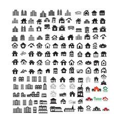 Building Real estate Home icons set Illustration design