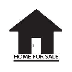 Home For Sale icon Illustration design