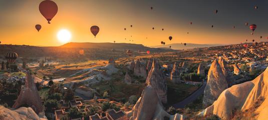 Cappadocia valley at sunrise Wall mural