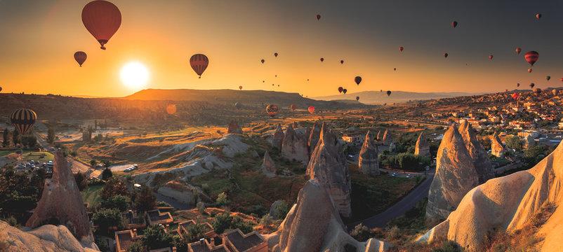 Cappadocia valley at sunrise