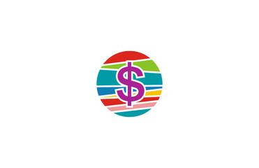 round colorful dollar logo