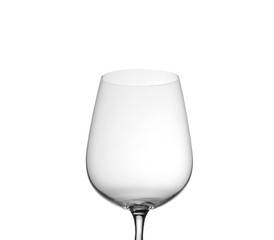 Empty wine glass, isolated on a white
