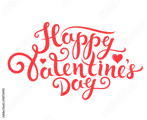 Happy Valentine S Day Lettering Greeting Card Stock Image And