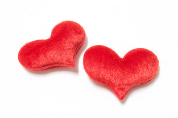 Soft heart isolate on white background