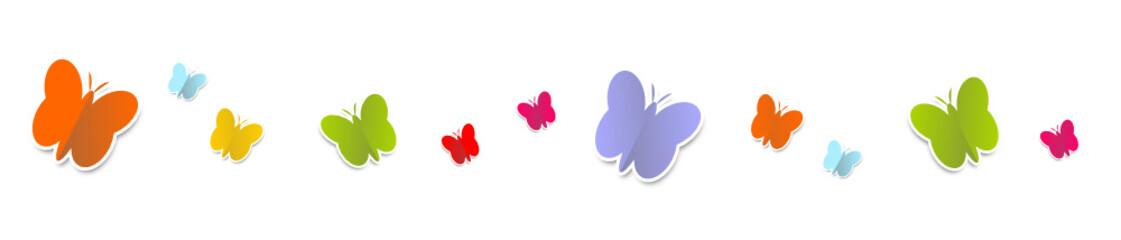 Schmetterlinge Bunt Reihe Band Banner