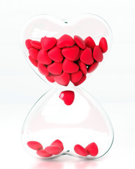 Hourglass with heart