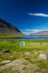 Iceland lake during summer