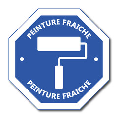 Logo peinture fraîche.