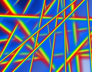 Абстрактный фон с яркими полосами.
