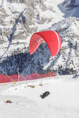 Paragliding over the Dolomites
