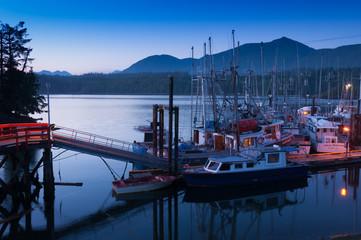 Ucluelet Harbour before sunrise