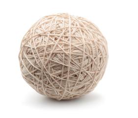 Ball of white heavy thread