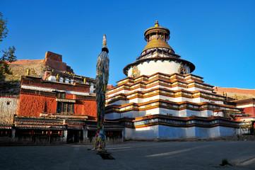 Tibetan Pelkor Chode monastery in the Gyantse town