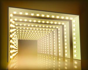 Light festival. Vector illustration.