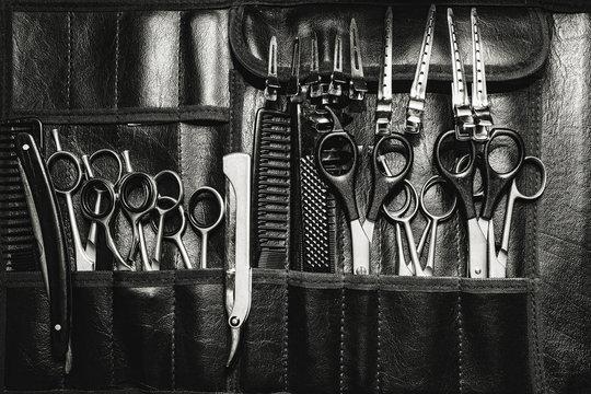 A set of cutting tools for cutting barber beard salon