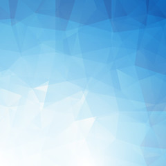 Abstract Triangle Geometrical blue Background. Vector