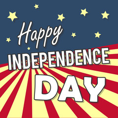 happy independance day greeting card
