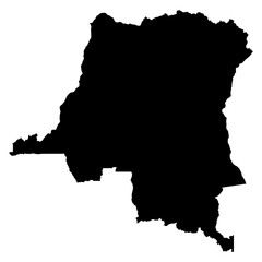 Democratic Republic of Congo map on white background vector