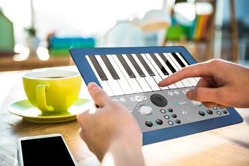 Composite image of music app