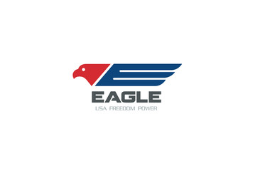 American Eagle symbol Freedom Democracy Logo design Falcon icon