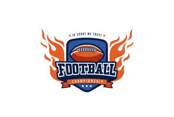Football Badge Logo Design. T-shirt Sport Team Identity Label