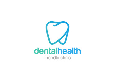 Health Dent Logo design linear. Dental clinic Logotype icon
