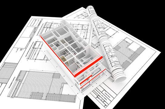 PRESENTACION RENDER PLANO INFOGRAFIA VIVIENDA FAMILIAR 3D ARQUITECTURA DISEÑO