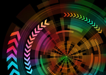 circle and arrow abstract image, vector illustration