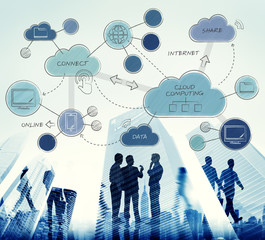 Cloud Computing Networking Connecting Concpet