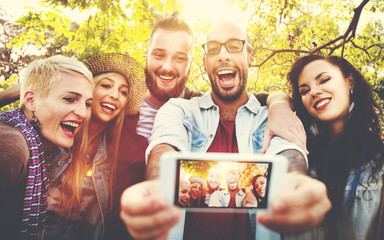 Friendship Togetherness Selfies Summer Happiness Concept
