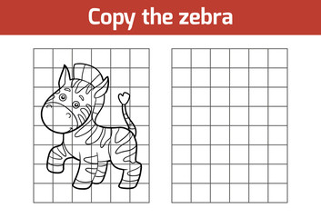 Copy the picture (zebra)