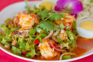 Spicy shrimp salad for thai food