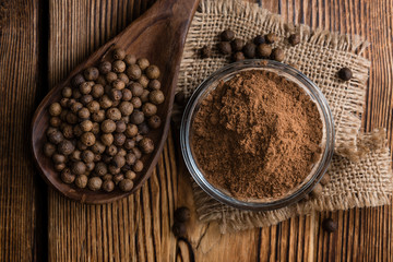 Portion of Allspice powder
