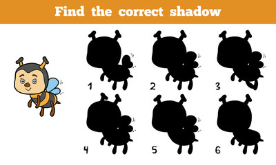 Find the correct shadow (bee)