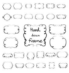 Hand drawn frame vector element design