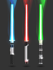 colorful illustration with light sabers