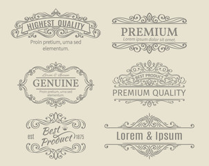 Banners Labels Frames Calligraphic Design Elements