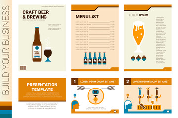 Craft beer book cover and presentation template