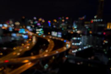 Abstract urban night light defocus background