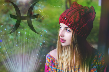 Zodiac sign of fish, the woman in an astrology