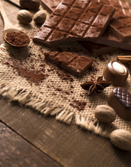 Chocolate in  vintage style