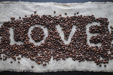 Coffee love heart