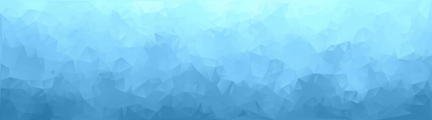 vector illustration - abstract mosaic blue triangle picture