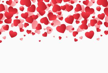 Falling hearts, Valentine's Day vector illustration design