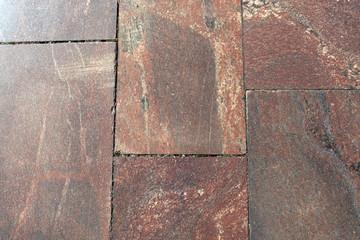 Granite pavement closeup.