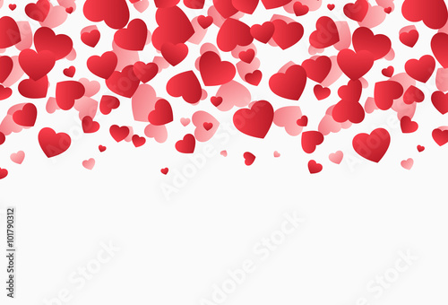 Falling Hearts Valentine S Day Vector Illustration Design Stock