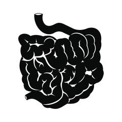 Small intestine black icon