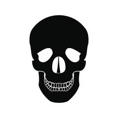 Human skull black icon
