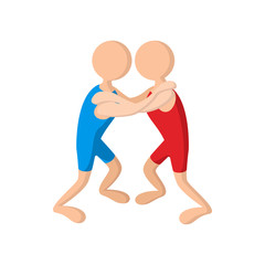 Wrestlers cartoon icon